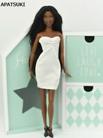 """White One Piece 1/6 Dress For 11.5"""" Doll Evening Dress Clothes For 1:6 Doll Toy"""