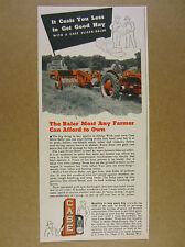 1949 Case Slicer-Baler farmer baling hay tractor photo vintage print Ad