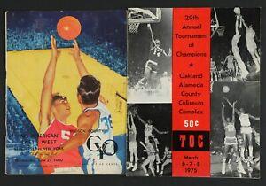 Lot of 2 1960 & 1975 Boys H.S. Basketball Tournament Programs