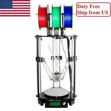 GEEETECH Delta Rostock 3D Printer 3-in-1-out Mix Color Print PLA, No Tax in US