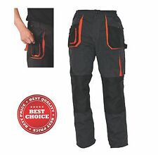 Men Work Trousers Straight Fit Pants Knee Pad Cargo Combat Multi Pocket Workwear