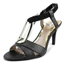 Calzado de mujer de tacón medio (2,5-7,5 cm) de color principal negro de lona