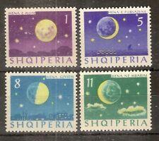 Albania 1964 The Moon SG828-831 MNH