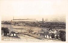 RPPC LIVINGSTON MT Northern Pacific Railroad Shops & Yards Montana Postcard 1920