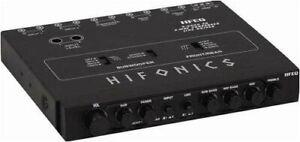 Maxxsonics HFEQ Equalizer/crossover Hifonics 1/2 Din; 4band Eq; 2-way Xover