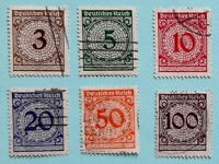 GERMANY - ALEMANIA - 1923 - SERIE CIFRAS - INFLATION ( 6 Und ) DIFFERENT VALUES