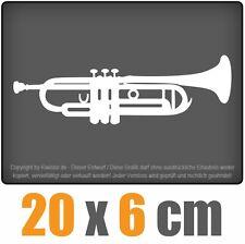 Trompette 20 x 6 cm JDM STICKER étiquette Course Die Cut