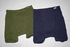 Men's Underwear 2 PR KNIT BOXERS Hanes NAVY BLUE ARMY GREEN Comfort Soft S 28-30