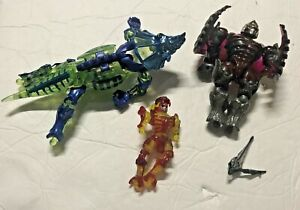 BANDAI DINOZAURS LOT OF FIGURE PARTS AS SHOWN AS IS