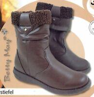 Damen Trendstiefel Schuhe Lederoptik Vliesfutter Stiefel profilierte Laufsohle
