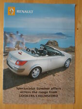 RENAULT 2005 UK Mkt sales brochure - Clio Laguna Megane Vel Satis Espace Modus