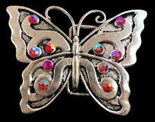 Insect Belt Buckle Buckles Red Stone Rhinestone Butterfly Butterflies