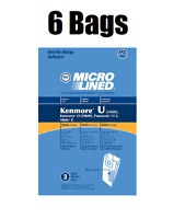 6 Bags for Kenmore Upright Vacuum 5068 50688 50690 Type U O Microlined