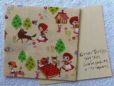 RARE Cosmo Textiles LITTLE RED, PETER PAN & SNOW WHITE FAIRY TALES Charm Pack #8