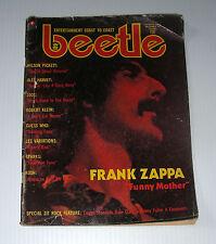 BEETLE 1974 Frank ZAPPA QUEEN Guess WHO Canada rock magazine rare scarce