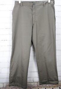 Nike Golf Stretch Flat Front Dress Pants Men's Size 34x30 M Gray/Green Cotton