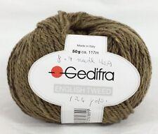 Gedifra English Tweed Tan Brown Yarn 70% Merino Wool 20% Nylon 10% Angora NEW!