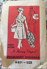 Vintage 60s Mod Dress Pattern 12~Prominent Designer Harmony Original