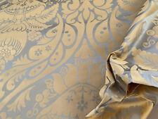 Lee Jofa Alodie Silk Damask Goldstone Celadon Blue 2.5YD Msrp$690