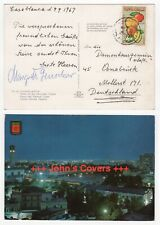 1967 MOROCCO Cover CASABLANCA - OSNABRÜCK GERMANY United Nations Square POSTCARD