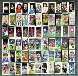 Lot of 60+ Barratt Bassett Football Candy Sticks Cards from 6 Incomplete Sets