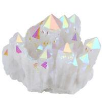Titanium Coated Crystal Point Angel Aura Quartz Druzy Cluster Geode Specimen