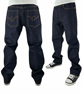 Rocawear Men's Anniversary Regular Fit Raw Denim Jeans, New Time Is Money Era 73