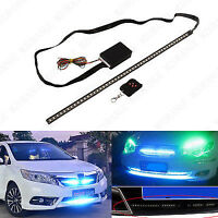 "48 LED 22"" Night Rider Strip Scanner Light Bar Wireless Remote Control Red Blue"