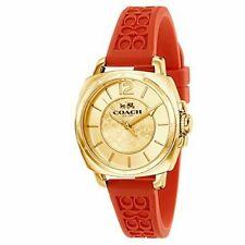 Coach para mujer Boyfriend de silicio Naranja Correa De Goma Reloj 34mm 14502094 $175