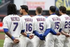 Carlos Beltran David Wright Jose Reyes Pagan Davis 8x10 Photo NY Mets Baseball