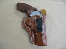 """Taurus 608 8 Shot 3"""" Revolver IWB Leather In The Waistband Carry Holster CCW TAN"""