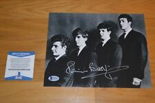 The Beatles ~ Pete Best Autographed B/W 8x10 Photo with Beckett Coa