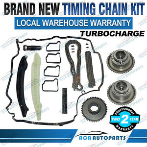 TIMING CHAIN KIT CAM GEARS FOR MERCEDES M271 W204 C180 C200 C250 Turbocharged