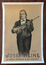 Joseph Heine – World Renowned Violinist – Original 1880's Poster – Very Rare