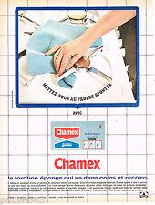 PUBLICITE ADVERTISING 075  1966  CHAMEX   torchon éponge