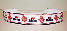 I Love BACON Non slip Headband adjustable no slip Sweaty Sports Hair Bands