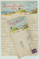 SUPER Biloxi MS Broadwater Beach Hotel Advertising Litho Letterhead & Cover 1951