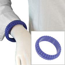 "Purple Lucite Bangle Bracelet Large West Germany 8 1/4"""