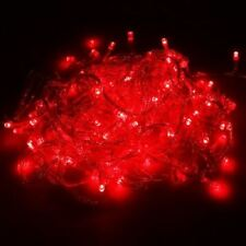 NEW 50 BERRY LIGHTS WITH RED BULBS HOLIDAY LIGHTS FAIRY PARTY CHRISTMAS STYLE