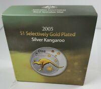 2005 Australian One Dollar Silver Kangaroo w/ COA