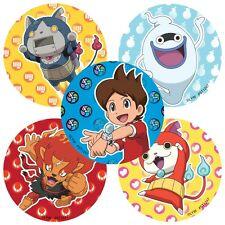 Yo Kai Stickers x 5 - Birthday Party - Favours - Loot Ideas - Round Design