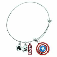 Oficial Capitán América Acero Inoxidable Logo pulsera pulsera - EN CAJA