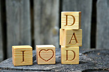 2'' Large Personalized Wood Name Blocks, Wood Cubes with Alphabet Letters