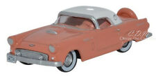 Oxford 1956 Ford Thunderbird Sunset Coral Die-Cast Metal Car 1/87 HO Scale