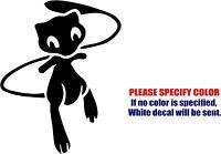"""POKEMON MEW Decal Sticker JDM Funny Vinyl Car Window Bumper Truck Laptop 7"""""""