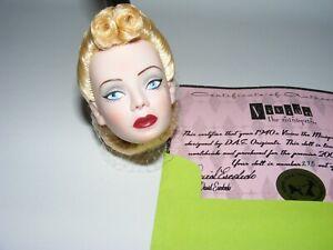 D.A.E. DAE originals 1940's Vivian the Miniquin doll HEAD and COA ONLY