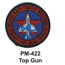 """3""""  TOP GUN Embroidered Military Patch"""