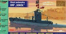 ORP SOKOL WW II POLACCO BLU NAVY SOTTOMARINO ex HMS RICCIO + PE PARTI 1/400