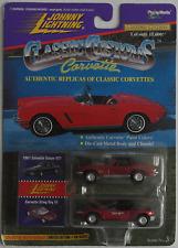 Johnny Lightning Corvette 2-Pack - ´67 Coupe 427 rotbraun + Sting Ray III rotmet