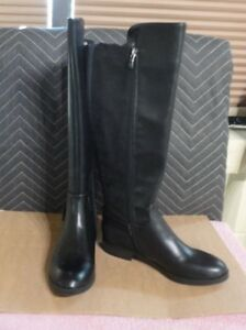 WOMENS LIZ CLAIBORNE DALLAS TALL BOOTS BLACK MULTIPLE SIZES NEW IN BOX MSRP$109